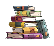 books on stack image
