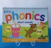 Phonics Short Vowels flip chart